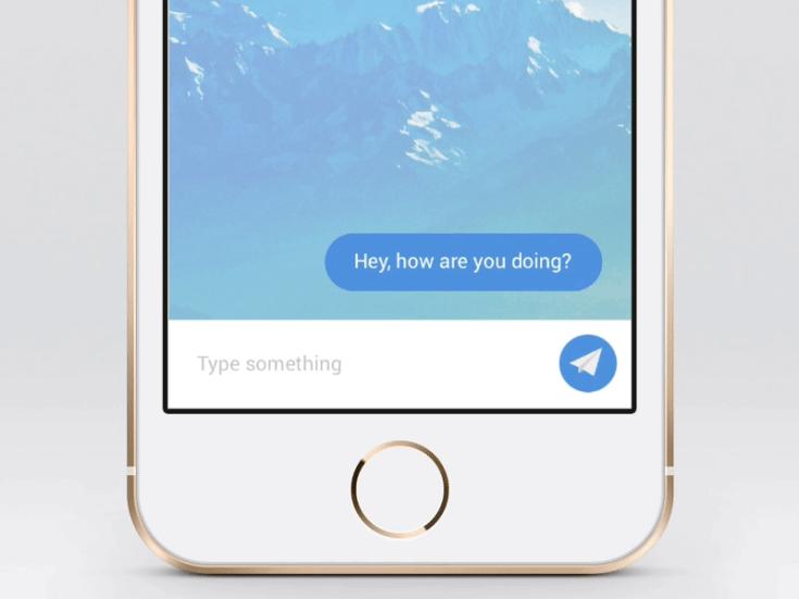 Send Message Interaction (Sketch & Flinto)