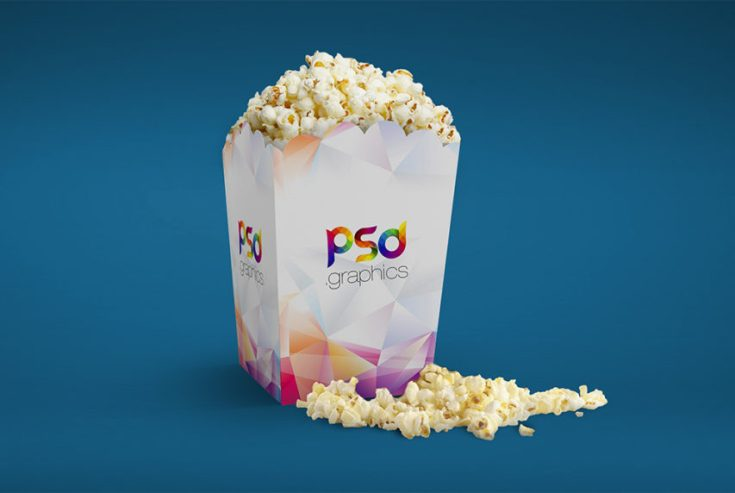 Popcorn Packaging Mockup PSD