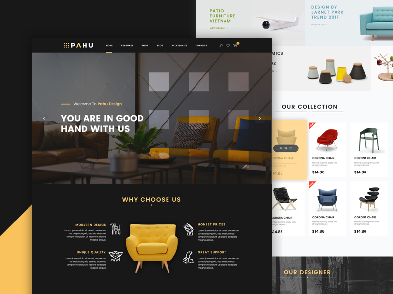 Free Interior Website Template