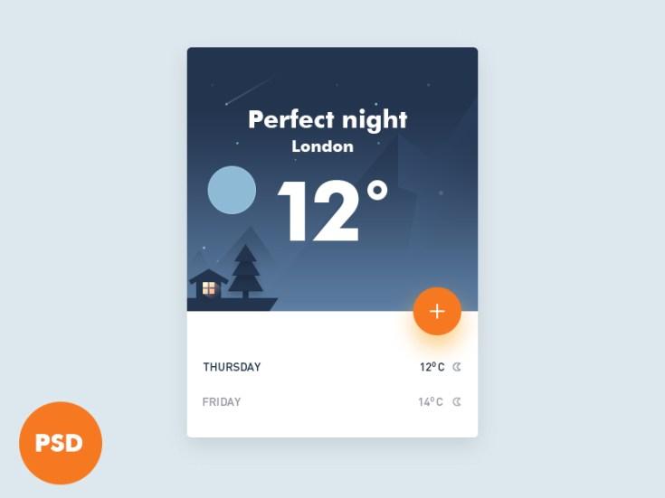 Weather UI Widget
