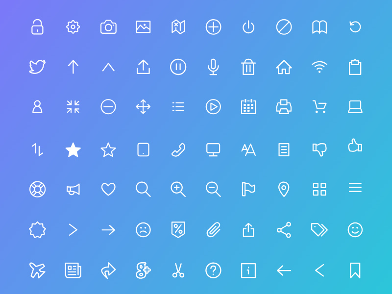 100 Free Flat Icon in Adobe XD Format