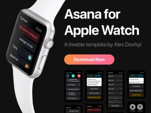 Asana : Free App UI For Apple Watch