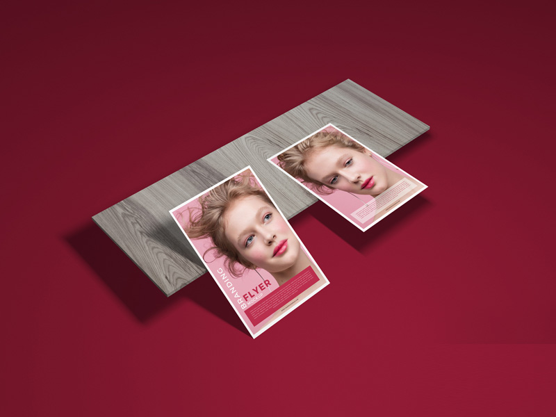 Branding Flyer Mockup PSD Template