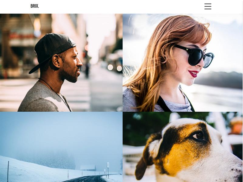 Brix – Free Minimalist Portfolio WordPress Theme