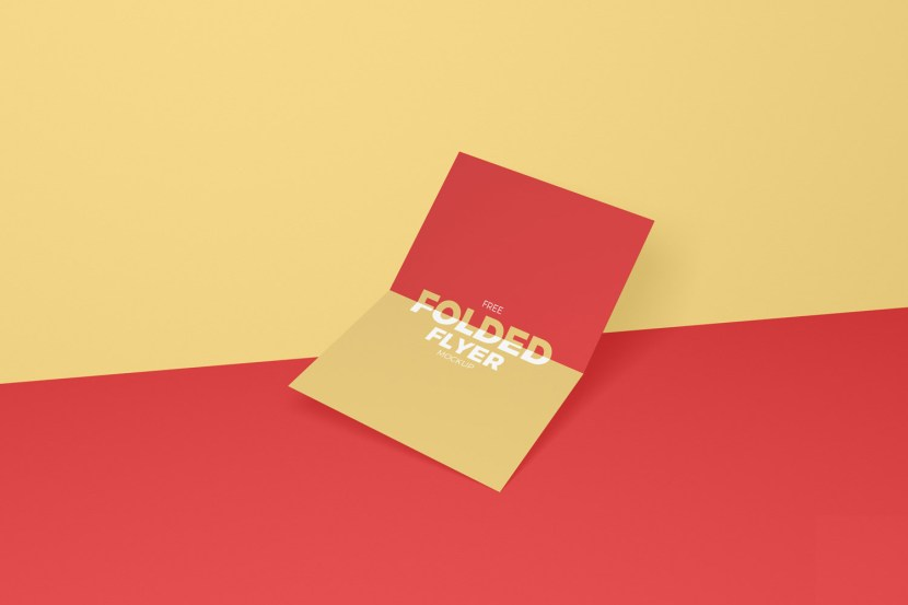 Centre Folded Flyer Mockup
