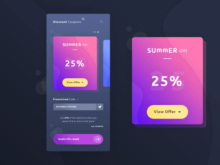 Free Coupons App UI Template