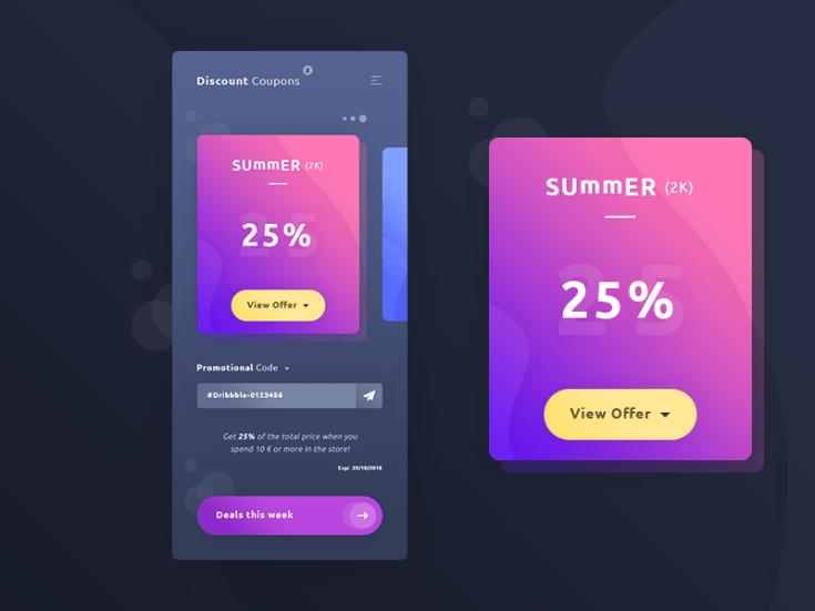 Free Coupons App UI Template