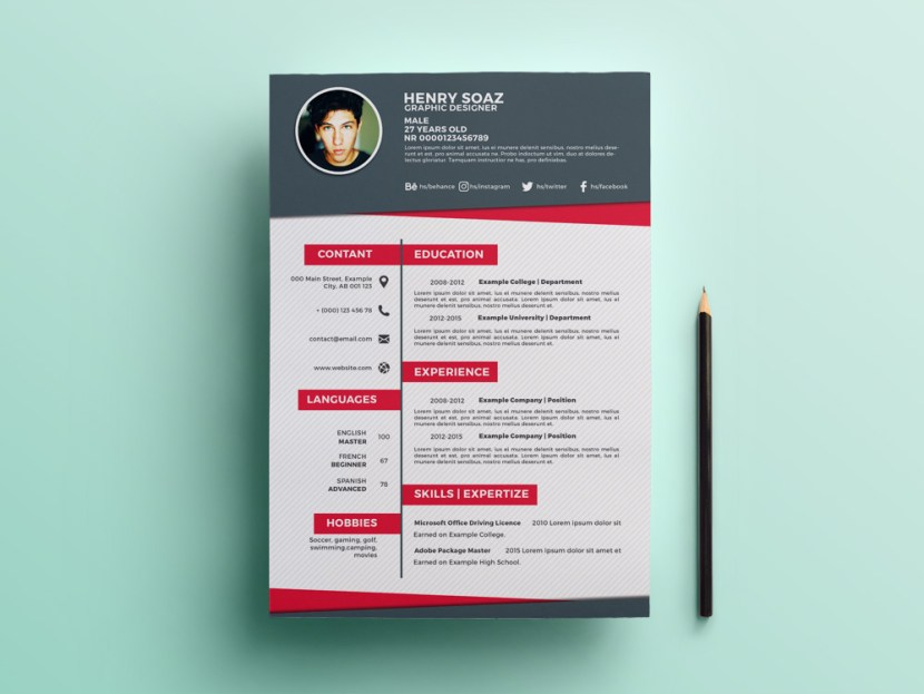 Free Flat Creative Resume Template