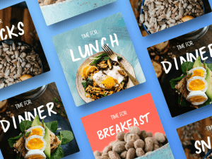 Food Cards Sketch Template