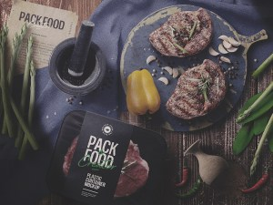 Free Food Product Mockup psd