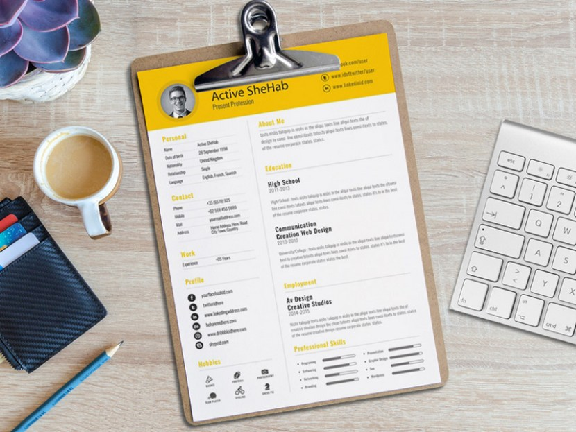 Free Creative Resume Template for Job Seeker