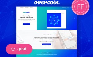 Free Cryptocurrency Website Template