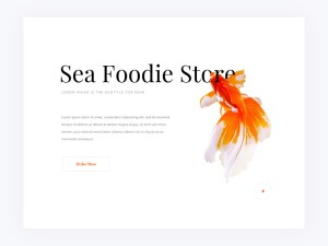 Free Foodie Store Website Template