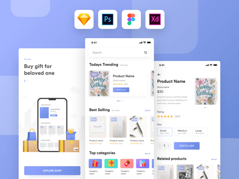 Free Gift Shop App UI Kit