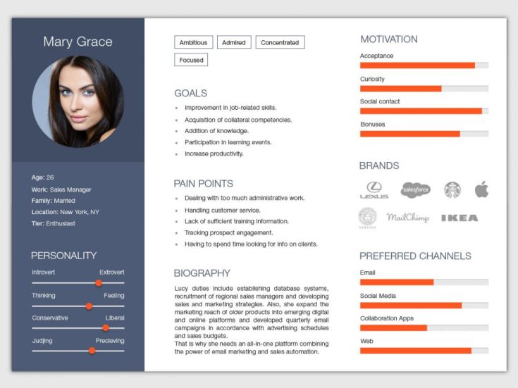 Free Horizontal Resume Template with Modern Design