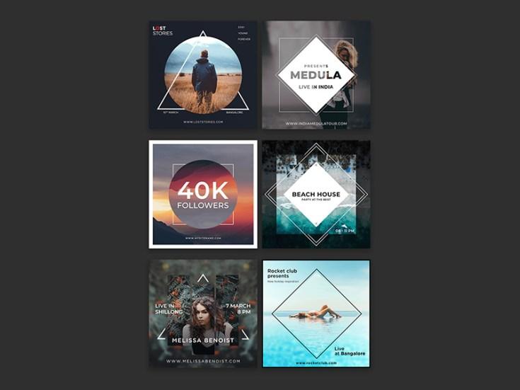 Free Instagram Post Template Set