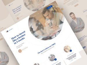 Free Investment Landing Page Template
