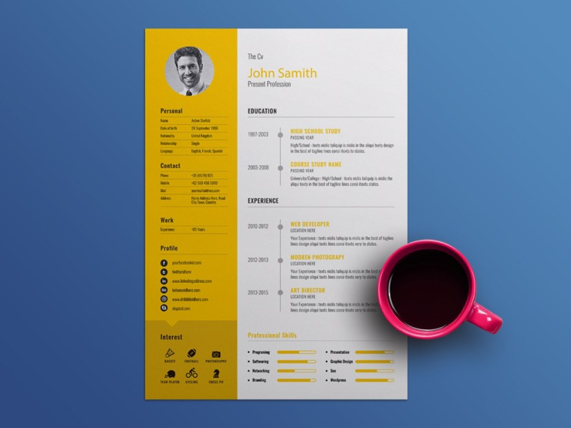 Free Manager CV Template
