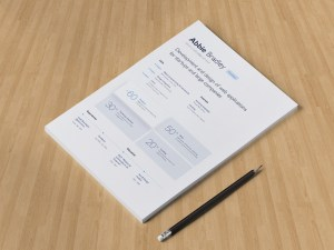 Free Minimal Resume Template for Sketch
