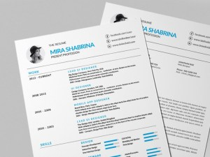 Free Modern Simple Resume Template