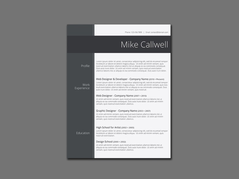 Free Modish Resume Template
