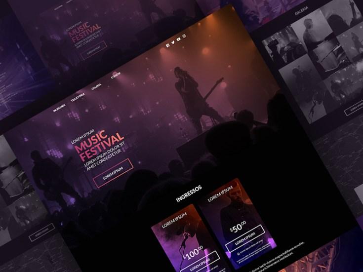 Free Music Festival Website Template