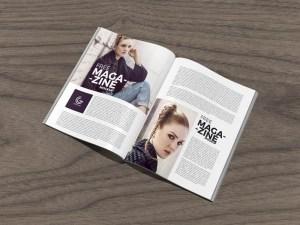 Free Open Magazine Mockup