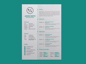 Free Personal Timeline Resume Template