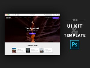 Free Photoshop UI Kit