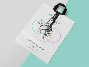 Free Polythene Shopping Bag Mockup PSD