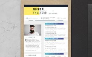 Free Professional Resume template with Elegant Design