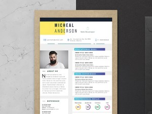 Free Professional Resume template with Elegant Design