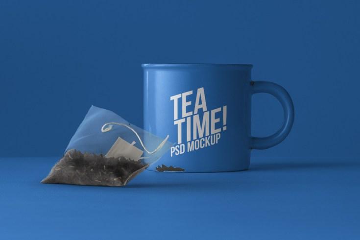 Free Tea Mug Mockup PSD