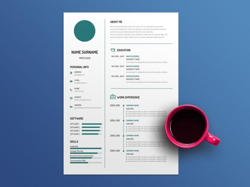 Free White Minimalist Resume Template