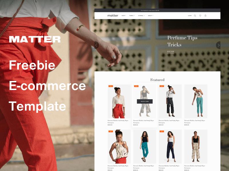 Matter  – Free Sketch Ecommerce Website Template