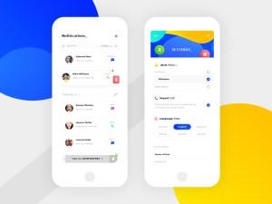 Notifications UI Design Template