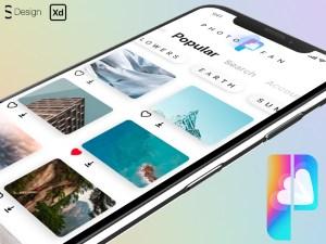 Free Stock Photo App UI Template