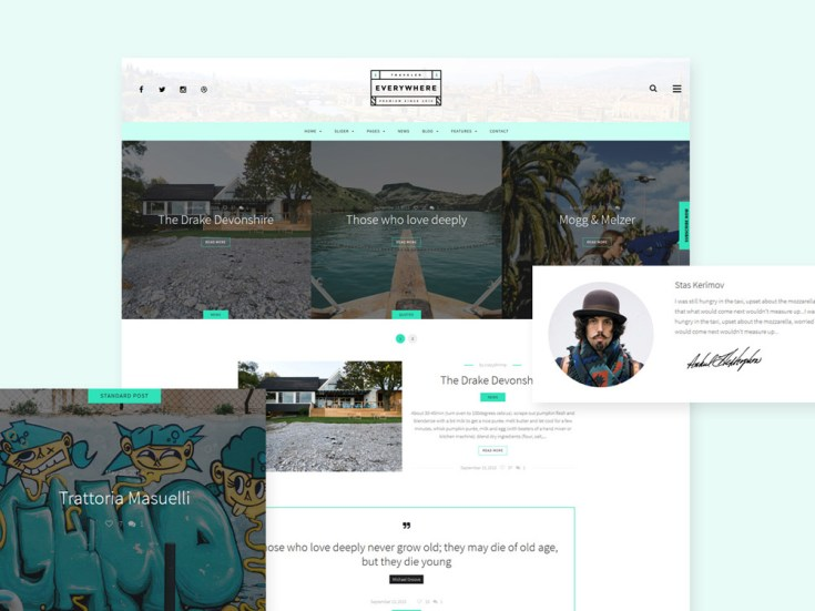 Free Travel Everywhere Wordpress Theme