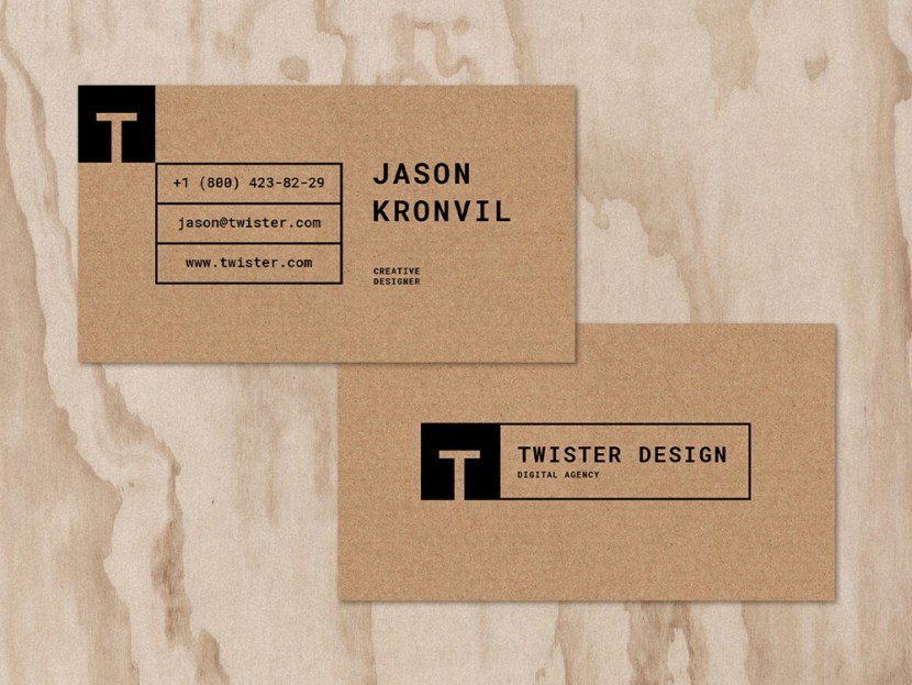 Twister Free Stylish Business Card Template