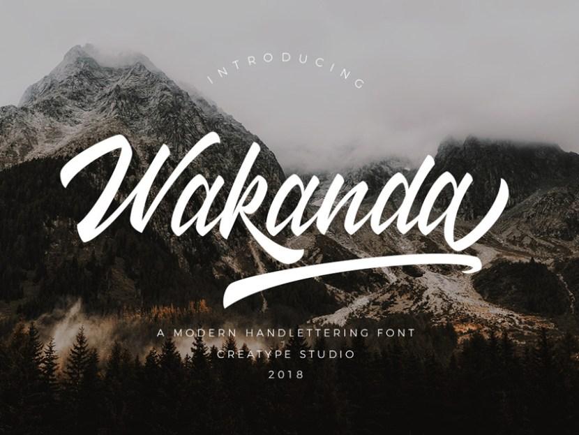 Wakanda Free Script Font