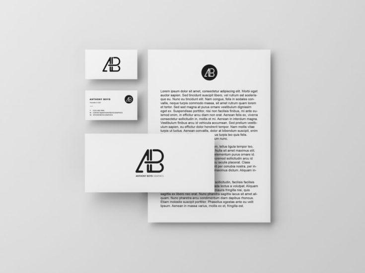 Free Modern Identity Stationery Mockup