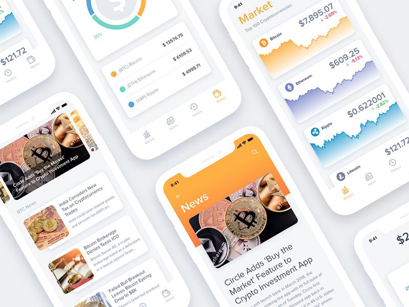 Bitcoin App UI Kit For Adobe XD