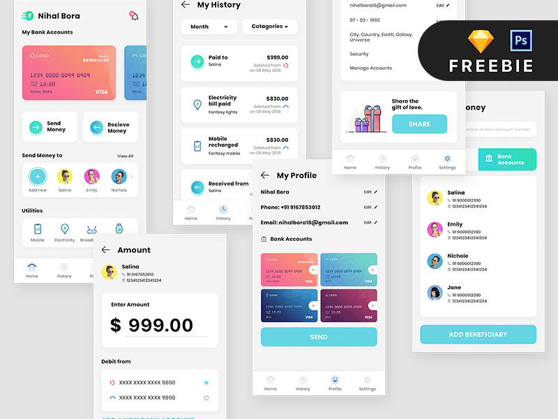Payment App UI Design Template