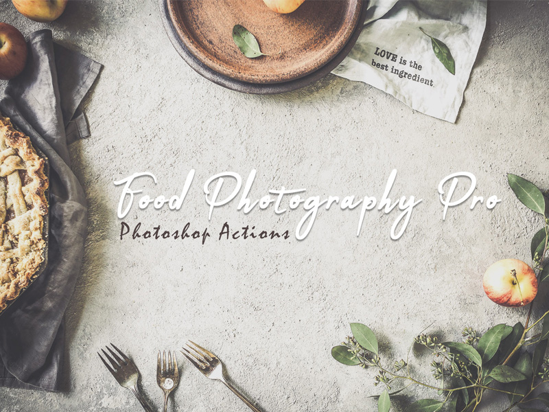 25 Free Food Photography Photoshop Actions