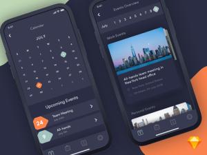 Calendar App iOS UI Sketch