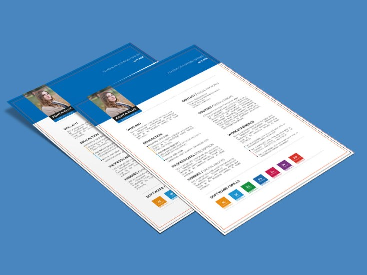Free Resume Template With Three Color Combination - Free Download