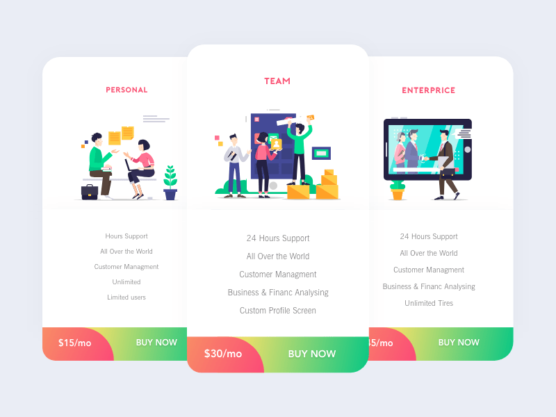 Free UI Kit – Price Page