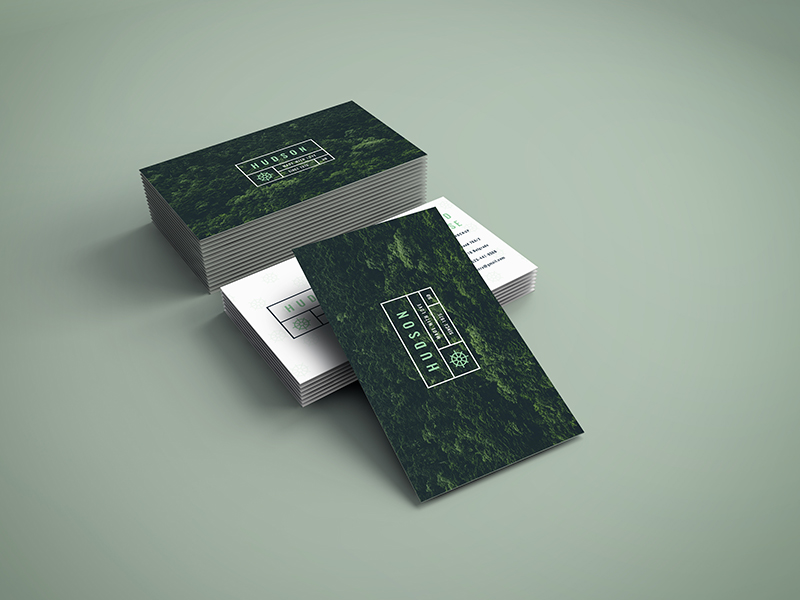 Free Awesome Business Cards mockup