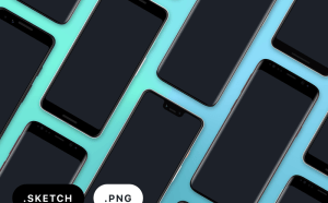 Free Google Pixel 3, Pixel 3 XL, and Samsung Galaxy S9 Sketch Mockups