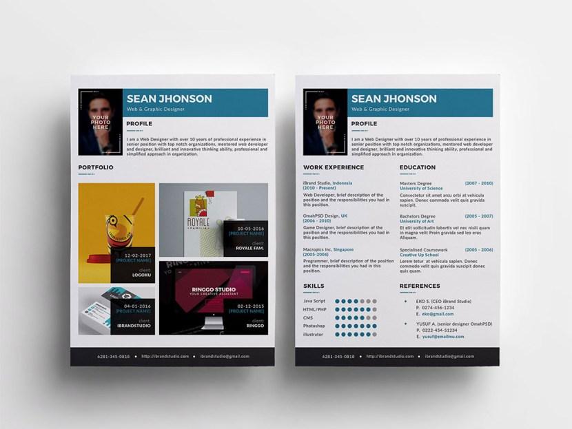 Free Modern Resume Template for Job Seeker
